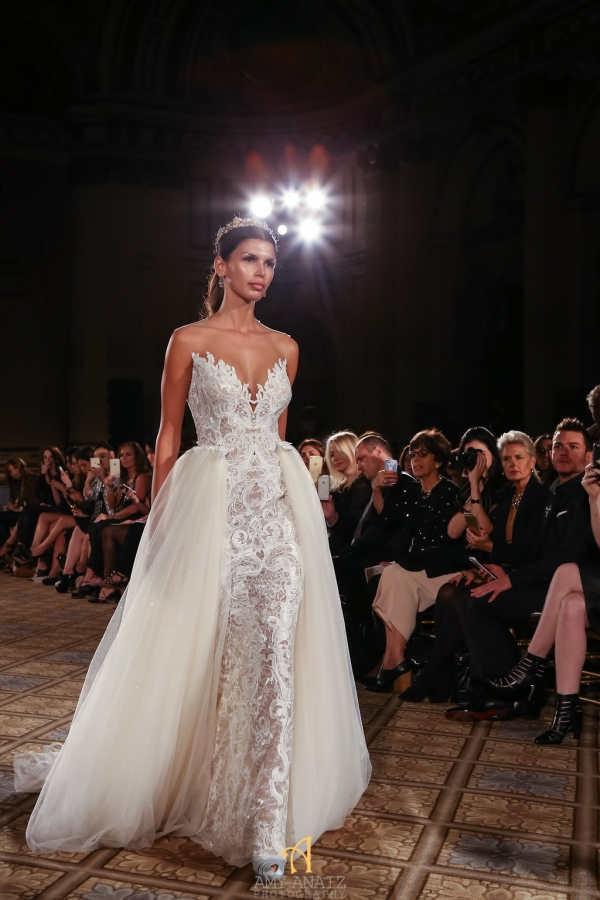 Berta Open Skirt Wedding Dress from Bridal Fashion Week