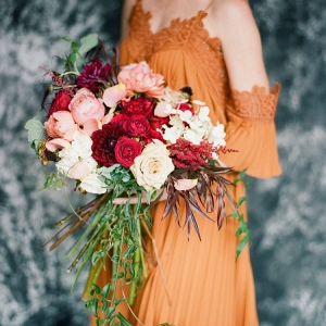 Lush Oversized Fall Wedding Bouquet