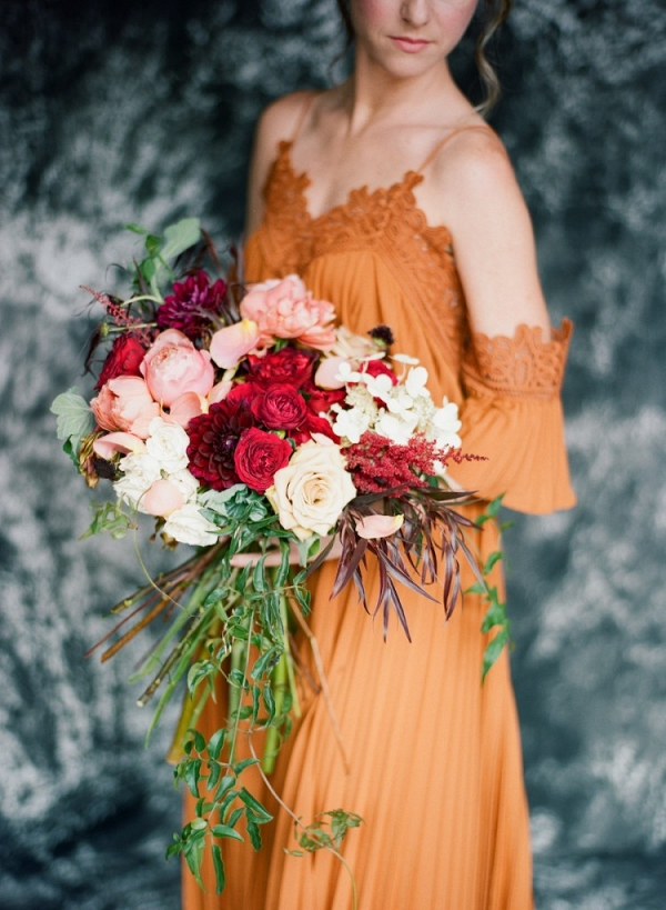 Lush Oversized Fall Wedding Bouquet