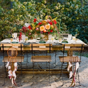 Boho Chic Farm Wedding Table