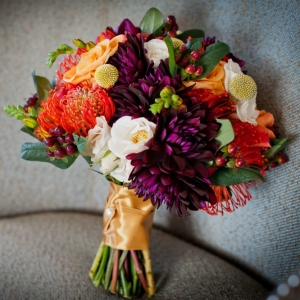 Fall Bouquet Chic Washington DC Elopement