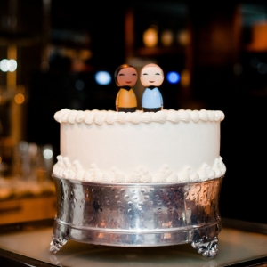 One Tier Wedding Cake Chic DC Elopement