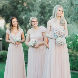 Blush Bridesmaids Classic Blush Arizona Wedding