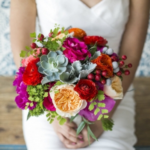 colorful geometric wedding from Aisle Perfect