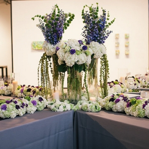 tall centerpieces from elegant downtown Denver wedding from Aisle Perfect