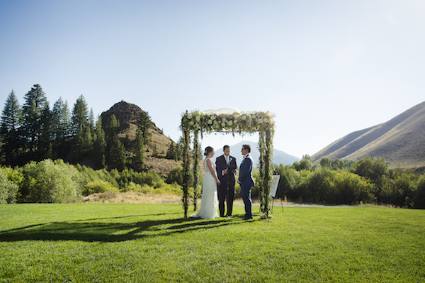 This Stunning Floral Chuppah Provided Just Enough WOW Factor To The Ceremony Space