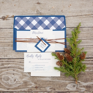 This Buffalo Check Invitation is Quintessentially PNW!