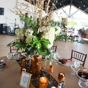 This Warm Metallic Wedding Was So Welcoming for Fall!
