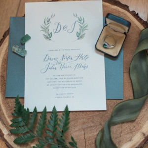 This Simple and Sweet Invitation Fits in Perfectly With the Color Scheme