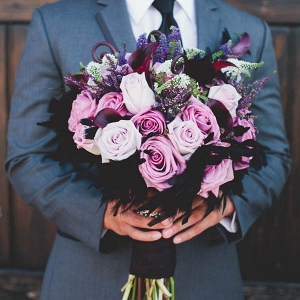 This Stunning Purple Bouquet is Fit For Royalty!