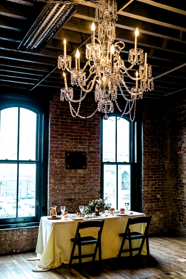 Wedding Tablescape With Copper Details