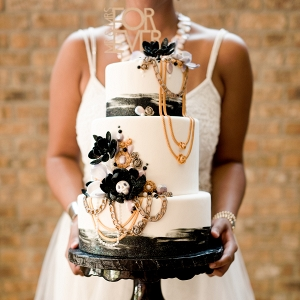 Wedding Cake with Skulls and Chains