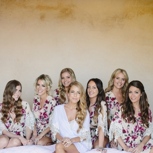 A Bride and Bridesmaids in Dressing Robes