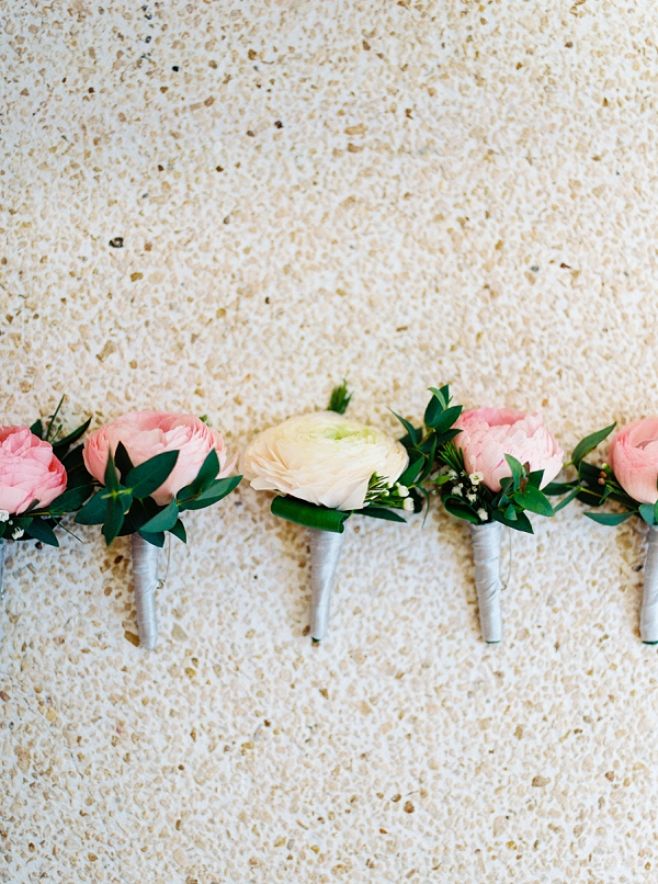 Pink and Yellow Boutonnieres