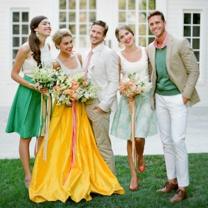 Bride with Groom and Bridal Party