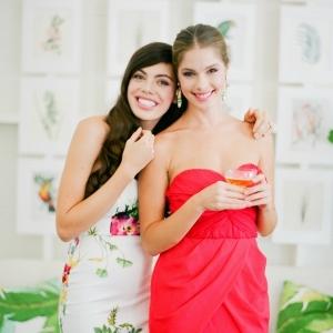 Two Glamorous Bridesmaids