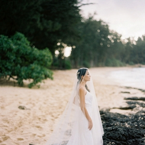 Bridal Portrait on the Beach