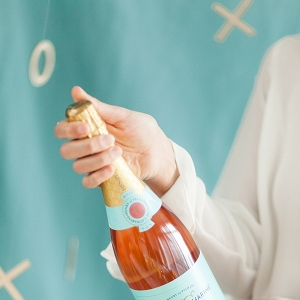 Rosé Champagne Bottle
