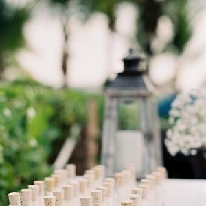 Wedding Escort Cards In Vials
