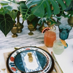 Tropical Bohemian Place Setting
