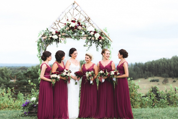 Berry Bridesmaid Dresses