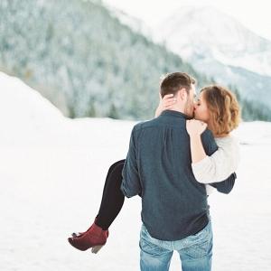 Snow Engagement Portrait