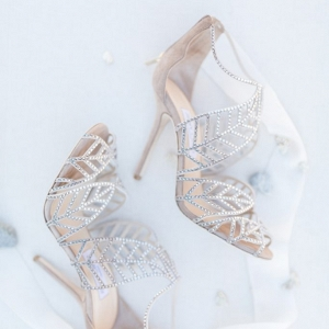silver grey Jimmy Choo wedding shoes