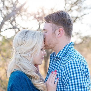 Couple's portrait during their South African Game Reserve engagement session