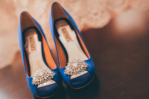 Something Blue Bridal Shoes from a Canadian Wedding by Pure Aperture Photography