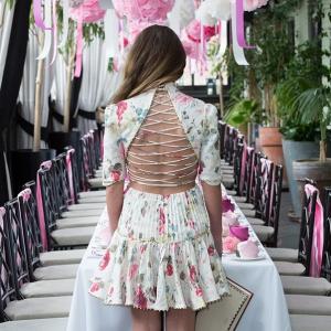 Zimmermann Floral Print Corset Laced Dress