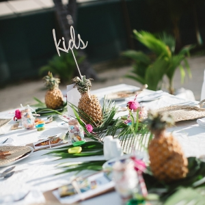 Bula Bride // Fiji Wedding Kids Table
