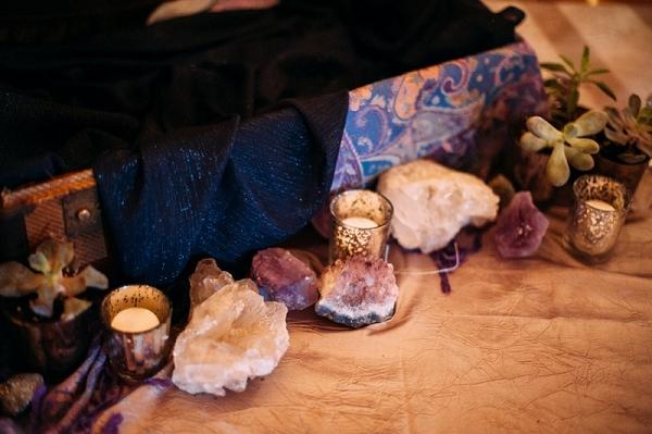 Sparkly Amethyst Geode Rocks Silk Pashmina Scarves Eclectic Decor Bohemian Rock n Roll Wedding