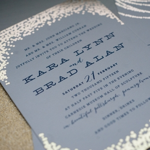 Real Gold Foil was the Perfect Accent to the Minted Invitations to This Chic Navy Blue & Gold Museum Wedding