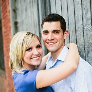 This Bride to Be and Her Fiance Are All Smiles During Their Urban Engagement Session