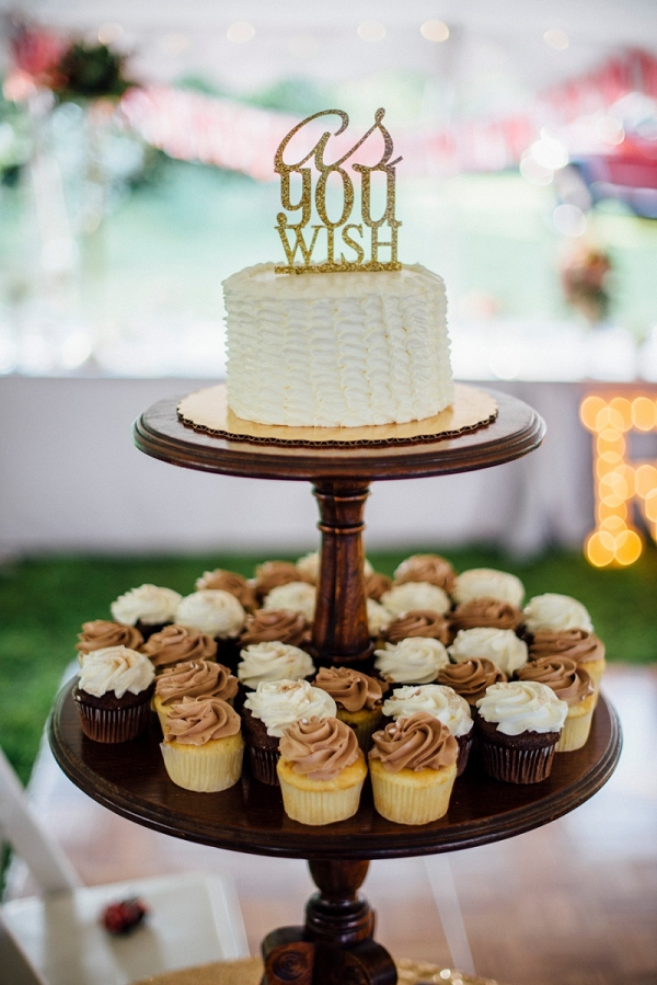 Gold Glitter Cake Topper Buttercream Wedding Cake Cupcake Dispaly