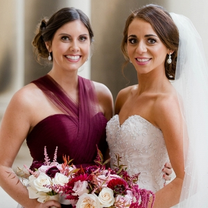 The Prettiest Shade of Berry Red Made for the Most Gorgeous Bridesmaids Dresses at This Rich Marsala & Blush Pittsburgh Wedding