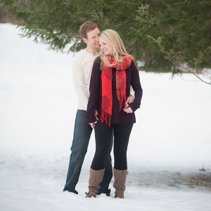 Mother Nature is the Highlight of This Snowy Field Engagement Session