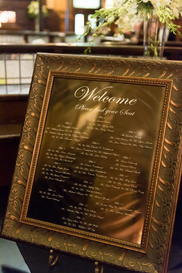Framed Seating Chart 1920s Inspired Pittsburgh Wedding