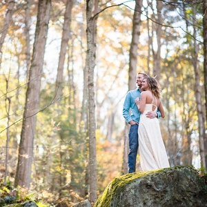 Forest TreesGlowing Sunset Woodsy Engagement Session Beautiful