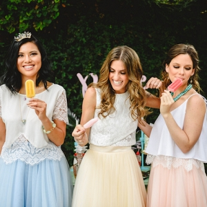 fun boho bridal party on Burnett's Boards