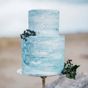 Powder blue wedding cake
