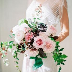 blush bouquet on Burnett's Boards