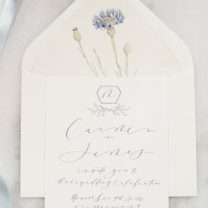 Calligraphy Wedding Invite