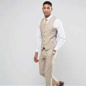 3 Piece Stone Linen Suit