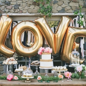 40 Inch Giant Gold Balloon Letters