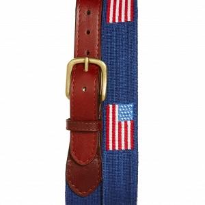 'American Flag' Needlepoint Belt