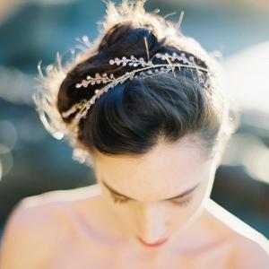 Amethyst Crystal Bridal Halo