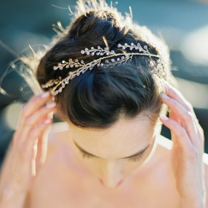 Amethyst Crystal Bridal Hair Halo