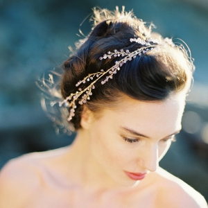 Amethyst Crystal Bridal Hair Vine