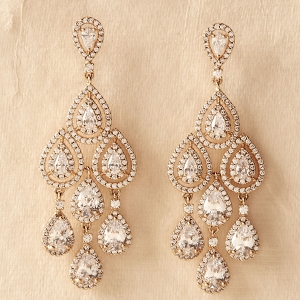 Aniston Chandelier Bridal Earrings